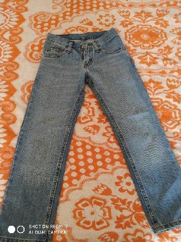 Детские джинсы и брюки в Кыргызстан: Джинсы детские почти новые синие из Мексики, полосатые германия. На