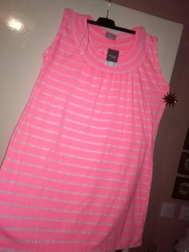 Tunika haljina za krupnije dame,novojosvetiketa na njoj,pink boja - Sombor
