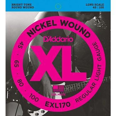 Bakı şəhərində D'Addario BASS gitara uchun 1 dest sim Model: EXL 170