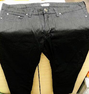 Muška odeća | Bor: Zemax crne lanene pantalone W38 L34. Pantalone su nove,nikada nosene