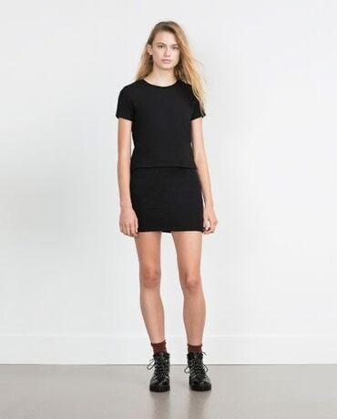 Suknje - Srbija: Zara crna mini suknja
