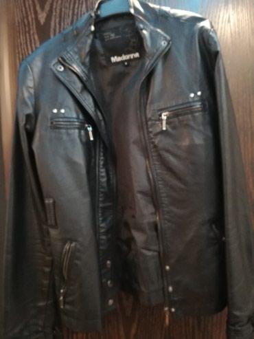 Kozna jakna sa ostecenjem okovratnika, crna strukirana, broj s - Pozega