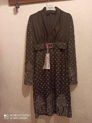 теплое платье батал в Кыргызстан: Новое платье. Трикотажное, теплое, ткань очень приятна к телу. Размер