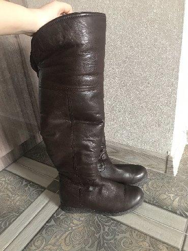 сапоги-кож-зим в Кыргызстан: Очень тёплые зимние сапоги. 100%кожа