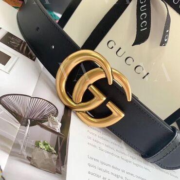 Ремень Gucci GG, 3,8см в наличии в чёрном цвете, длина 95см. Другие