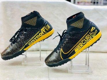 """Futbol ayaqqabısı boğazdı """"Nike Mercurial"""" -süni ot örtüyü üçün"""