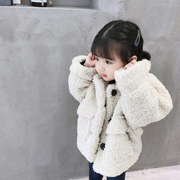 Детское зимнее пальто на заказ. артикул Цвет: белый; Темно-коричневый в Бишкек