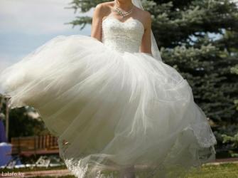 кыргызские национальные свадебные платья в Кыргызстан: СРОЧНО!!!!!!Покупали за 400$, отдам за 4 000 сом! В подарок фата с
