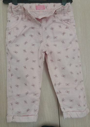 Παντελονι midi modi 1-1,5 y, 80-86 cm. απαλο ροζ με διακριτικες