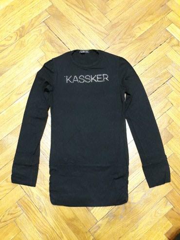 Kassker majica-tunika, velicina 6. Duza crna majica, savrseno ocuvana. - Belgrade