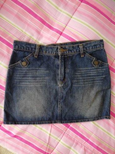 Teksas mini suknja M velicina.Dimenzije:poluobim struka 37cm,duzina - Novi Sad