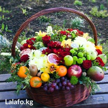Корзины с фруктами и цветами. в Бишкек