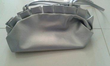 Sivo srebrne boje pismo torba - Backa Palanka