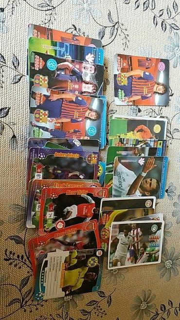 Bakı şəhərində Futbolçu şəkilləri olan kartlar Hamısı birlikdə 15