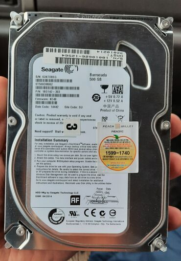 hitachi 320 gb в Кыргызстан: Жесткий диск, hdd 500 gb новая