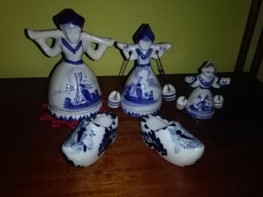 Figurice holandske seljancice I klompice,ko voli figurica - Sombor