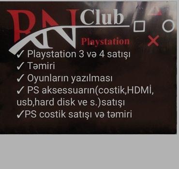 Bakı şəhərində Playstation klublarin sifirdan yigilmasi.
