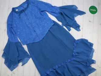 Женский ретро костюм блуза и юбка с оборками    Замеры блузы:длина - 4