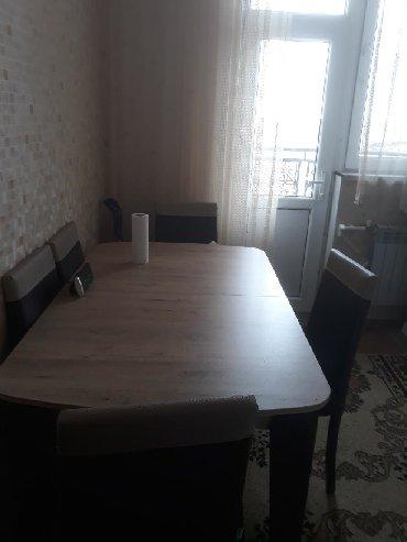 деревянный кухонный стол в Азербайджан: Стол и 6стульев недорого,эмбовуд,,300ман