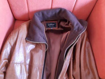 Muska kozna jakna - Srbija: Kozna jakna muska braon iz italije XL velicina,kvalitetna koza sa