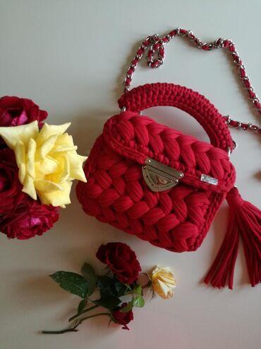 Prelepa crvena torba. Rucni rad