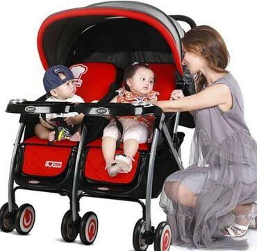 Детский мир - Кок-Ой: Продаю коляску для двойни за 5500, состояние новое. Покупали за 12500