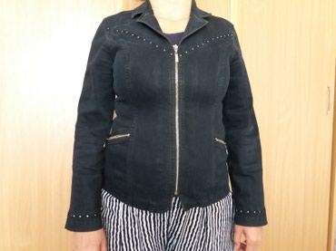 джинсовый пиджак в Кыргызстан: Продаю б/у черный джинсовый пиджак размер 48-50