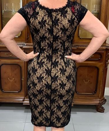 платье футляр большого размера в Кыргызстан: Платье женское офисное ажурное футляр б,у, вписывается в строгий
