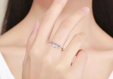 Серьги и кольцо из серебра 925 пробы всего за 400 сом