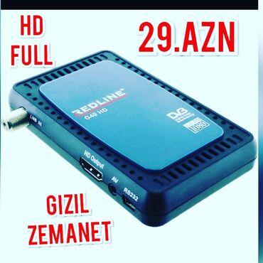 tv tuner - Azərbaycan: Yeni tuner redlayn aparat.Kanallar yigilmis hazir29 azn.catdirilma