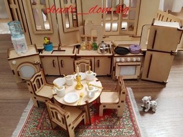 дом-для-кукол в Кыргызстан: Миниатюрные игрушки для кукольных домиков