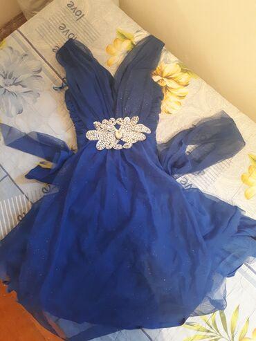 Платья на девочку на мероприятие  Синее оранжевое