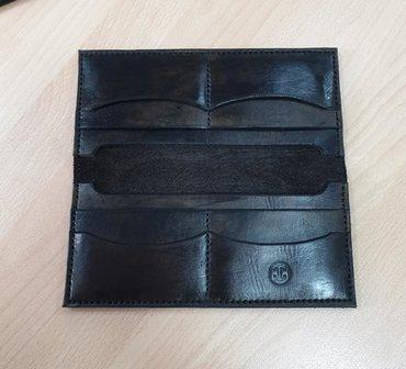 чёрная-сумка в Кыргызстан: Портмоне из кожи ручная работа