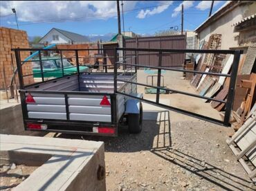 прицеп бортовой легковой в Кыргызстан: Прицеп новый легковой усиленный на 2 тонны ширина 1,5м с документами
