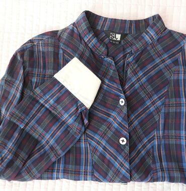 Рубашки и блузы - Кыргызстан: Рубашка со стойким воротником. Материал качественный Х/б