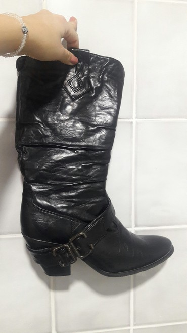 Ženska obuća | Novi Becej: Kaubojke, broj 39, crne