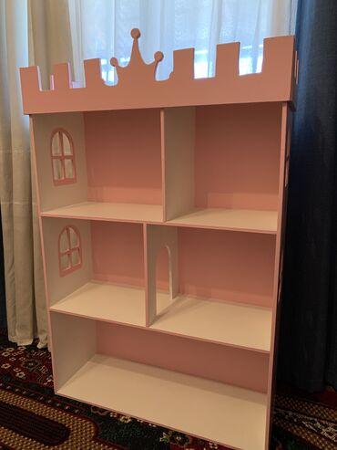 Новый кукольный домик в нежно розовом цвете размер 104*70 между эт