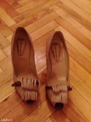 NOVE kozne italijanske bez braon sandalete, nove, broj 38. - Uzice
