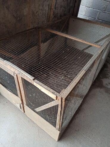26 объявлений | ЖИВОТНЫЕ: Клетка для курицы размер длина 2м ширина 1м высота 0,75м Катек товукла