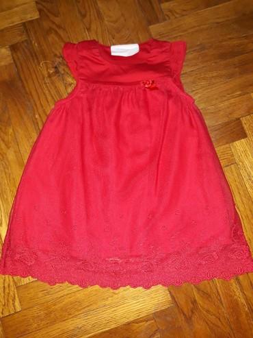 H&M haljina za bebe, velicina 68-74. Crvena haljinica, pamucna - Belgrade