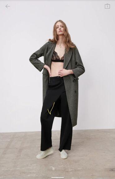 Zara Original Bruki shirokie pryamie pantoloni Razmer L, bolshemeryat