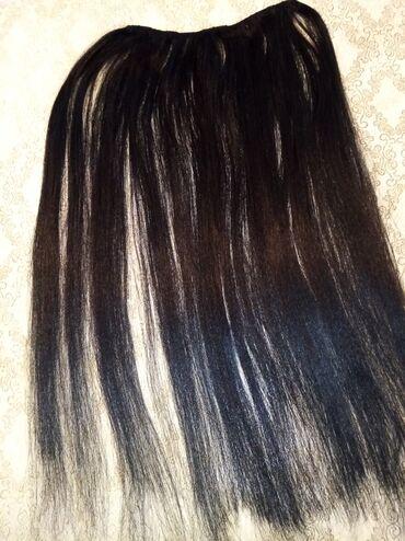 Другое - Токмак: Продам накладные волосы на заколках.Цвет: Чёрный.Состояние
