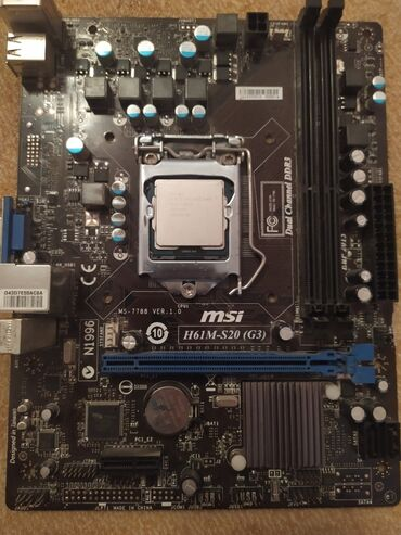 Материнская плата 1155 сокет  MSI h61m-s20 + процессор g2020 2.9 ghz