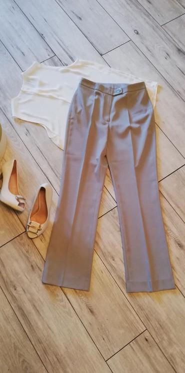 Pantalone struk duzina - Srbija: Jones sive pantalone br 36. Poliester/elastin. Struk visok 35cm