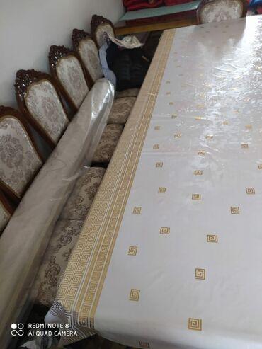 Продавец мебели - Кыргызстан: Продам стол 6 метров 12 стульев. Исключительно в комплекте