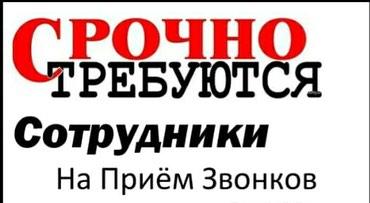 Требуется сотрудник ( ца ) на прием звонков и заказов. в Бишкек