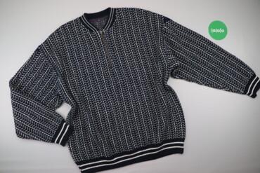 Мужская одежда - Украина: Чоловічий пуловер з візерунком Kings    Довжина: 78 см Ширина плечей