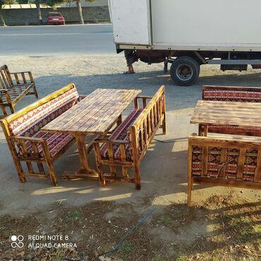 kafe üçün mebel - Azərbaycan: Restoran bag evleri ucun her nov masa ve oturacaqlar barlar besetkalar
