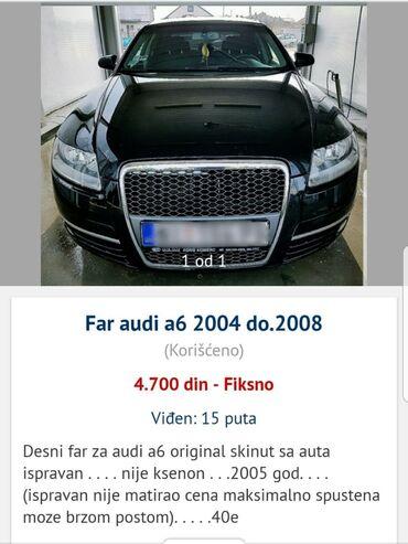 Audi a4 2 8 at - Srbija: DESNI FAR ZA AUDI A6, ORIGINAL