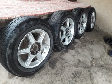Продаю диски с резиной зима bridgestone195. 65. R15 in Бишкек